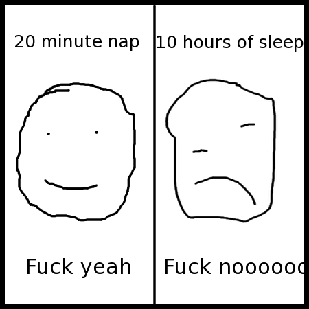 "This comic brought to you by zero hours of sleep, which has a caption of ""Fuck yeah, wait, fuck nooooooo."""